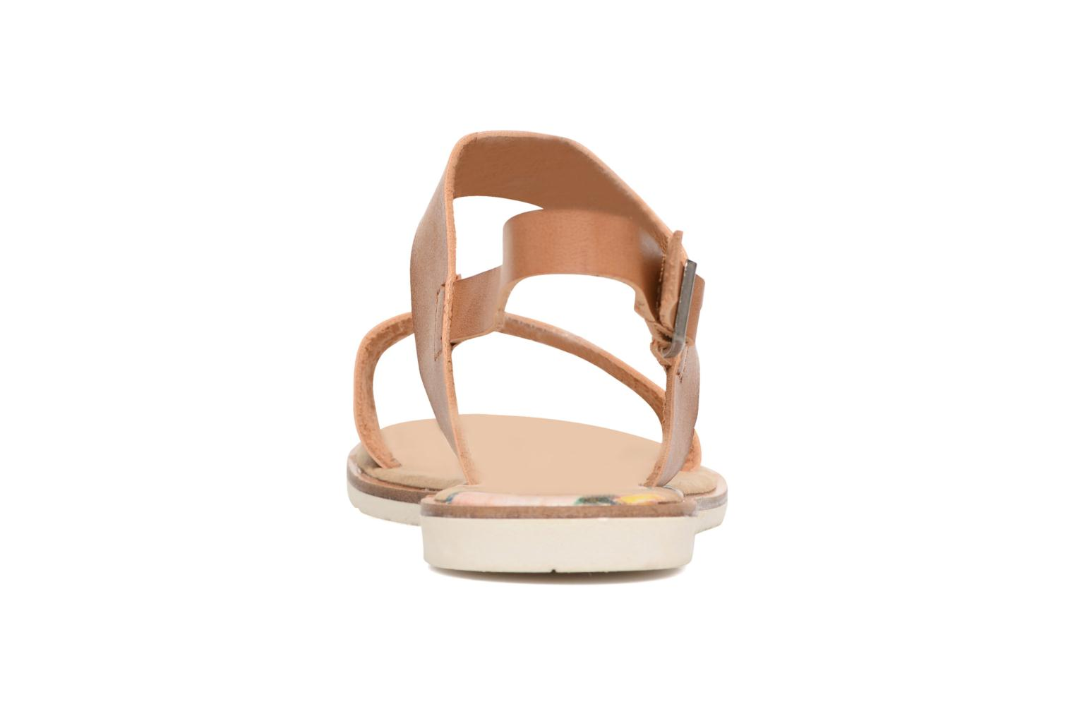 Sandalias Coolway Morel Marrón vista lateral derecha