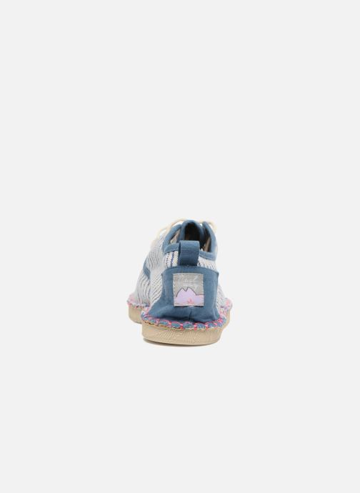 Schnürschuhe Coolway Trebol blau ansicht von rechts