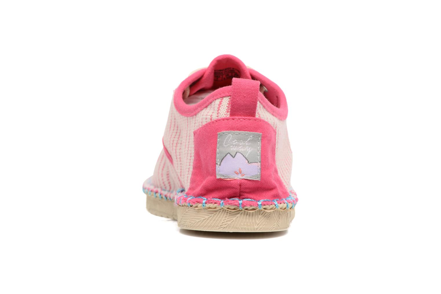 Lace-up shoes Coolway Trebol Pink view from the right