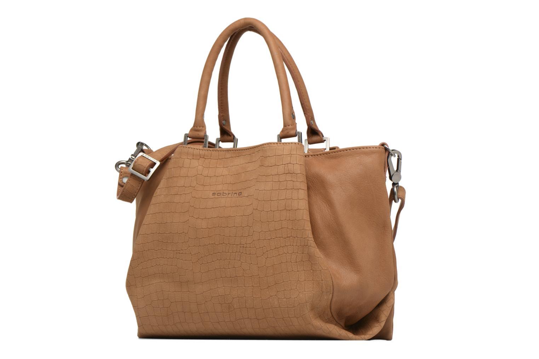 Handbags Sabrina Aliénor croco Brown model view