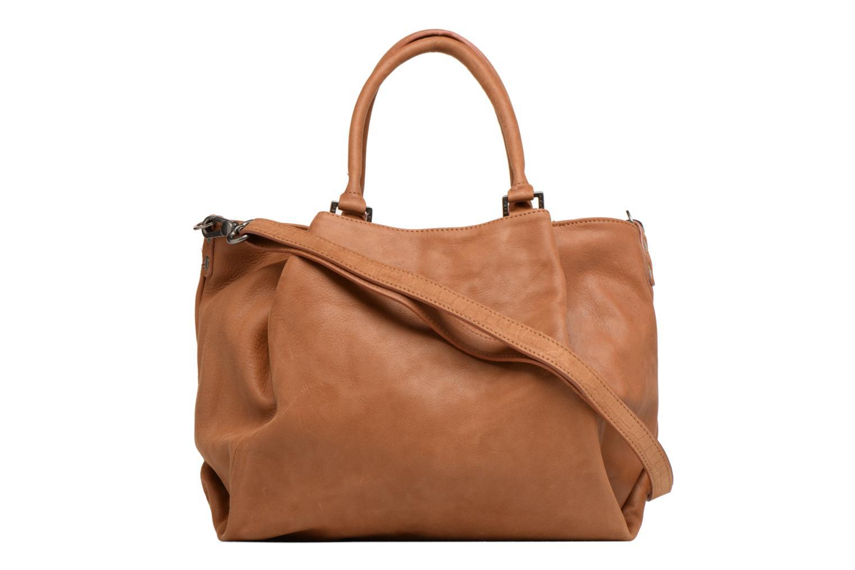 Handbags Sabrina Aliénor croco Brown front view