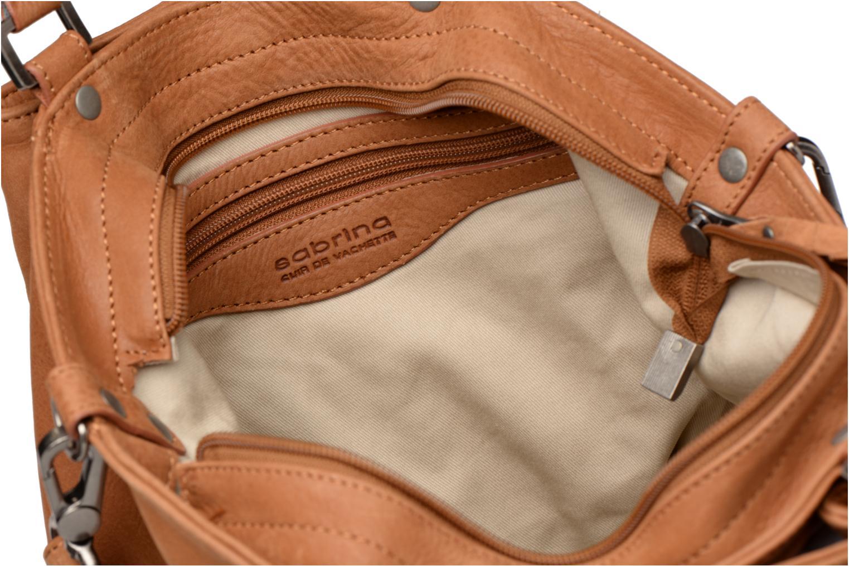 Håndtasker Sabrina Aliénor croco Brun se bagfra