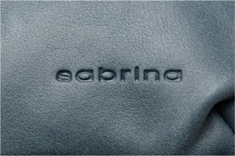 Sacs à dos Sabrina Auriane croco Bleu vue gauche