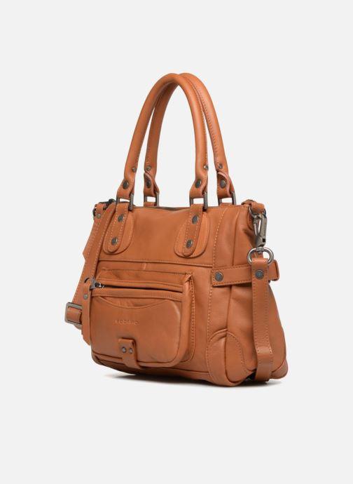 Handtaschen Sabrina Clémentine braun schuhe getragen