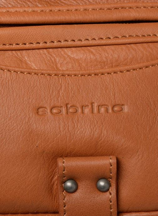Handtaschen Sabrina Clémentine braun ansicht von links