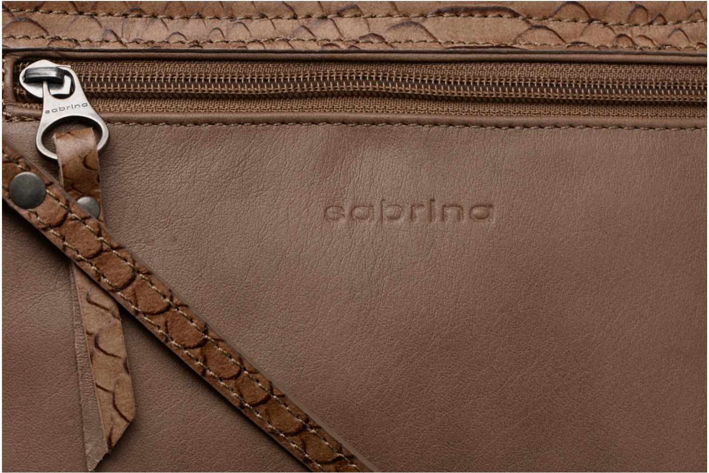 Bolsos de mano Sabrina Cyriane croco Marrón vista lateral izquierda