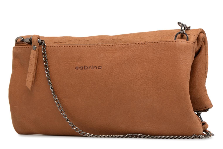 Mini Bags Sabrina Léonie croco braun ansicht von rechts