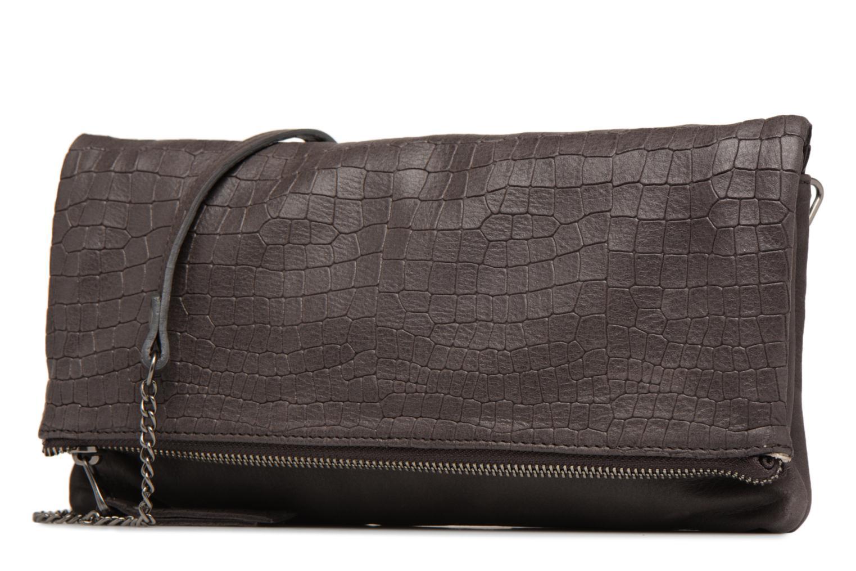 Mini Bags Sabrina Léonie croco grau schuhe getragen