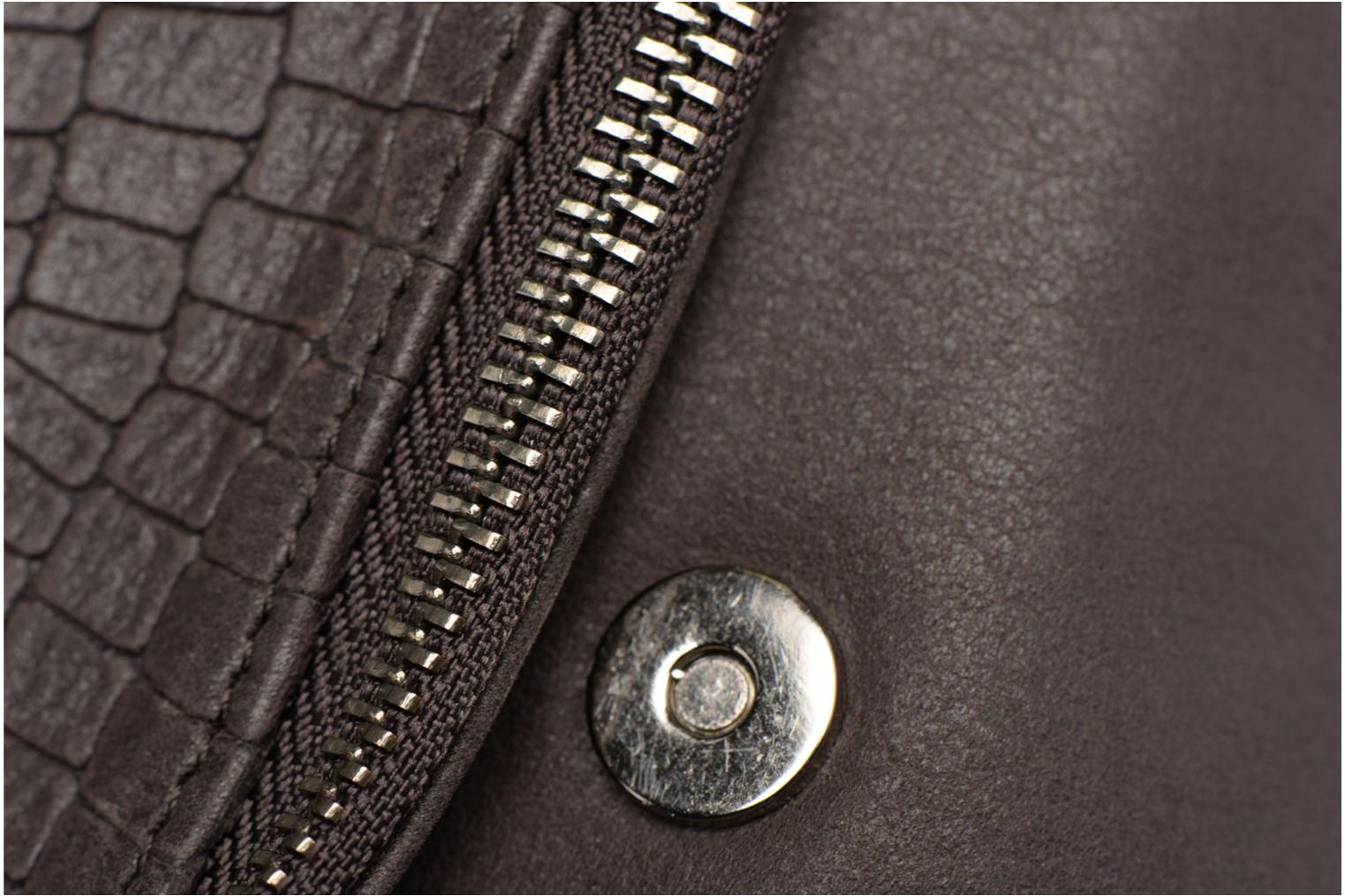 Clutch bags Sabrina Léonie croco Grey view from the left