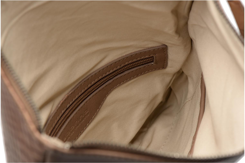 Clutch bags Sabrina Léonie croco Brown back view