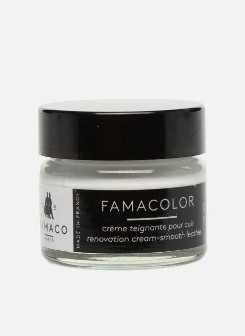Produits d'entretien Famaco Teinture solide famacolor 15ml Blanc vue portées chaussures