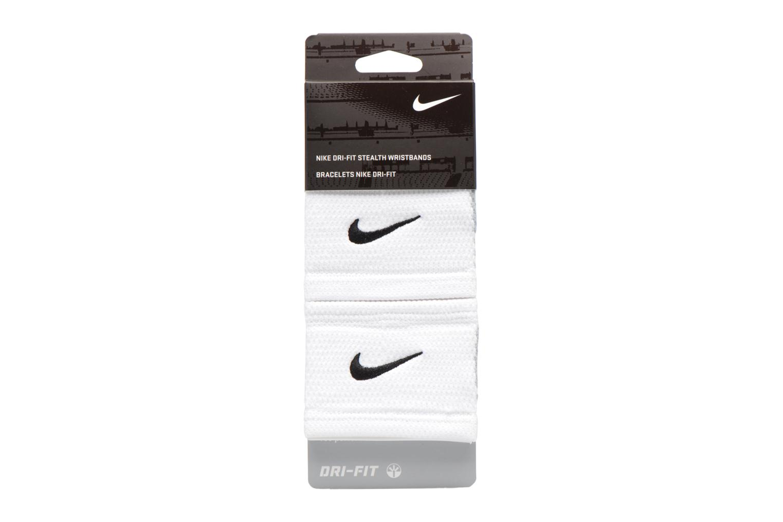 Guantes Nike DRI-FIT STEALTH WRISTBANDS Blanco vista del modelo