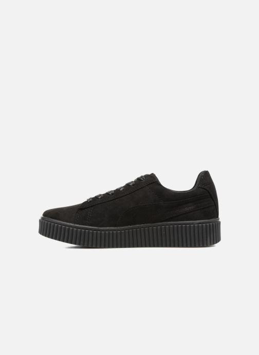 Sneakers Molly Bracken Black Flowers Zwart voorkant