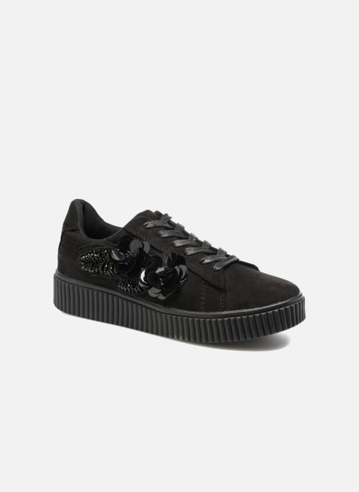 Sneakers Molly Bracken Black Flowers Sort detaljeret billede af skoene