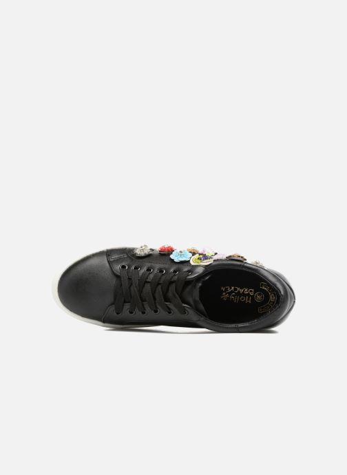 Baskets Molly Bracken Flower Sneakers Noir vue gauche