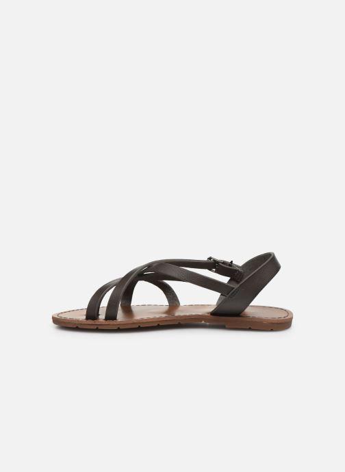 Sandales et nu-pieds Chattawak Margot Gris vue face