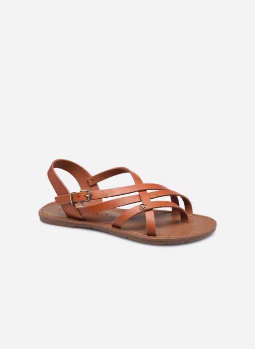 Sandales et nu-pieds Chattawak Margot Marron vue détail/paire