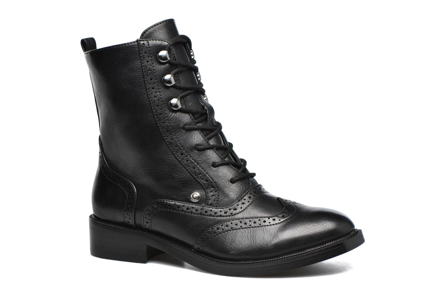 Lace-up shoes Chattawak Marlene Black detailed view/ Pair view
