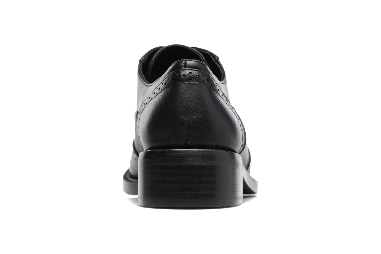 Zapatos con cordones Chattawak Joanne Negro vista lateral derecha