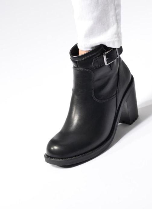 Bottines et boots Chattawak Melissa Noir vue bas / vue portée sac