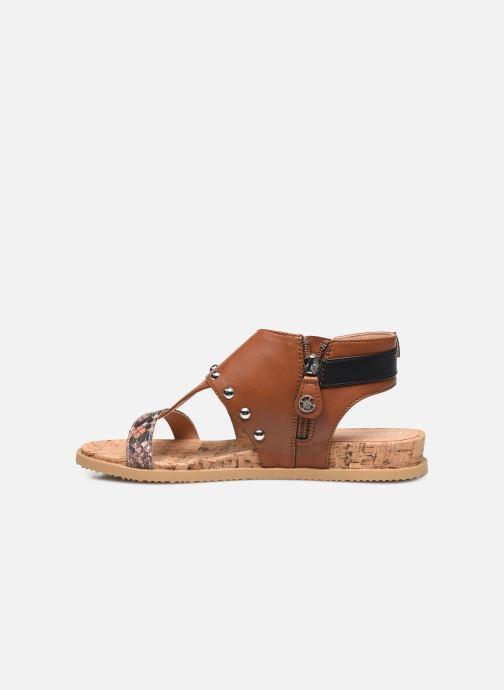 Sandales et nu-pieds Chattawak Jade Marron vue face
