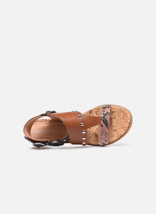 Sandales et nu-pieds Chattawak Jade Marron vue gauche