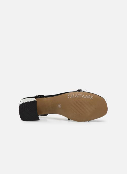 Sandales et nu-pieds Chattawak Marine Noir vue haut