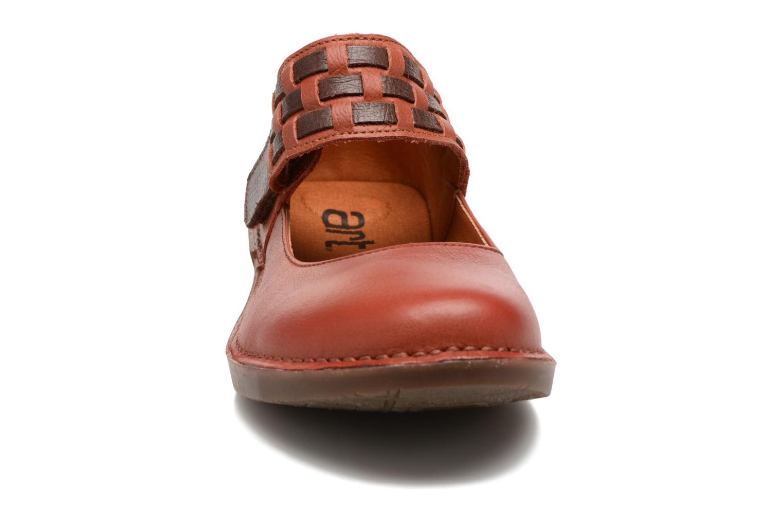 Ballerines Art BERGEN 1210 Orange vue portées chaussures