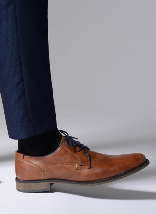 Lace-up shoes I Love Shoes SIGMUND Brown view from underneath / model view