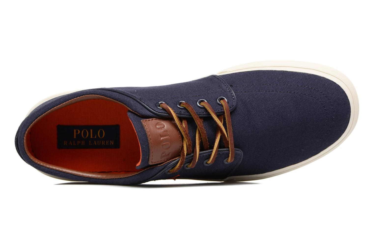 Sneaker Polo Ralph Lauren Faxon Low-Ne blau ansicht von links