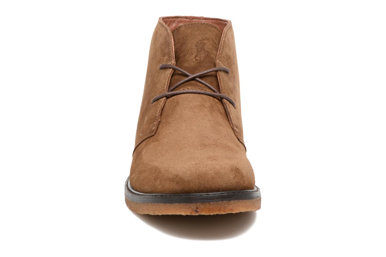 Schnürschuhe Polo Ralph Lauren Marlow braun schuhe getragen