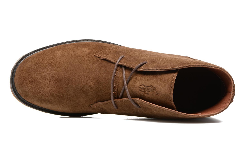 Schnürschuhe Polo Ralph Lauren Marlow braun ansicht von links