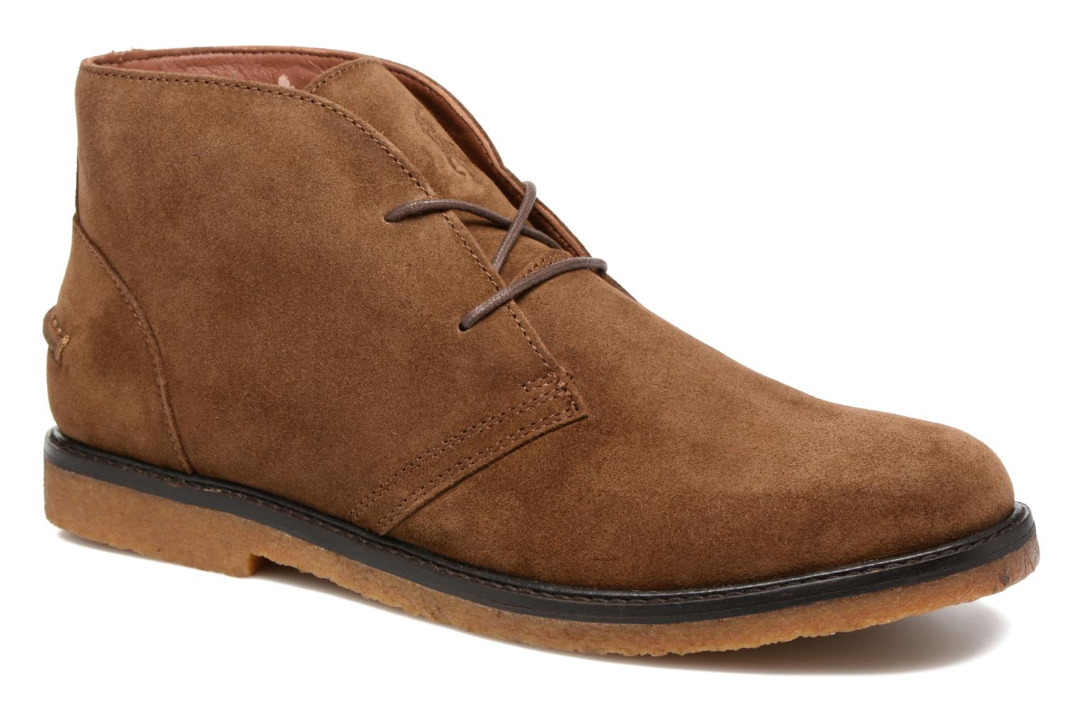 Lace-up shoes Polo Ralph Lauren Marlow Brown detailed view/ Pair view