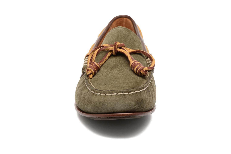 Mocassins Polo Ralph Lauren Davy Vert vue portées chaussures