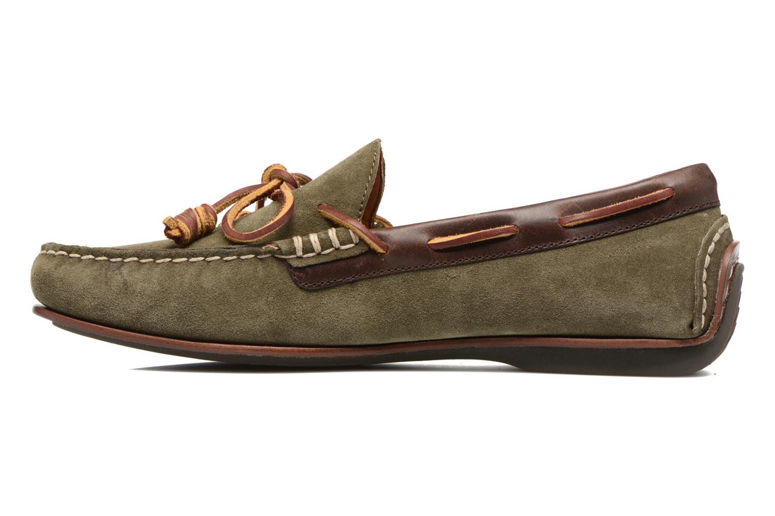 Loafers Polo Ralph Lauren Davy Green front view