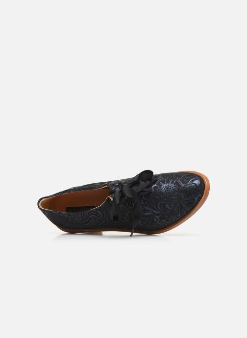 Zapatos con cordones Neosens CYNTHIA S534 Azul vista lateral izquierda