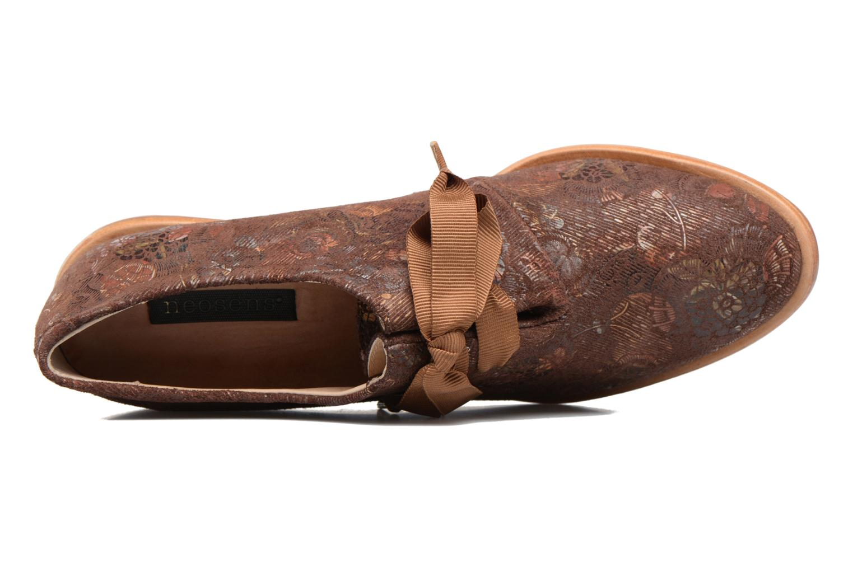 Zapatos con cordones Neosens CYNTHIA S534 Marrón vista lateral izquierda