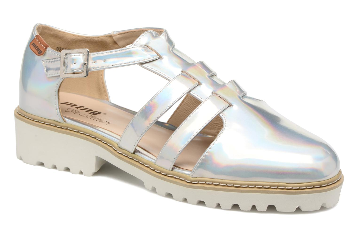 Sandals MTNG Loku 52873 Silver detailed view/ Pair view