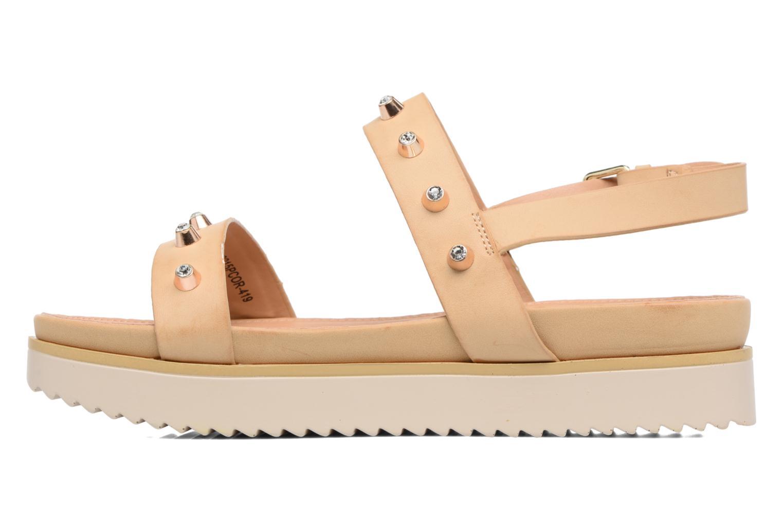Sandali e scarpe aperte MTNG Clou 53937 Beige immagine frontale