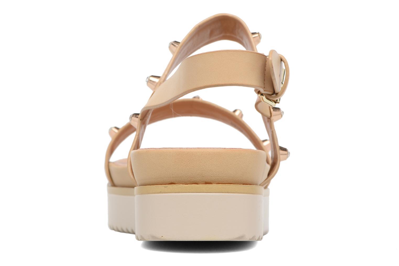 Sandali e scarpe aperte MTNG Clou 53937 Beige immagine destra