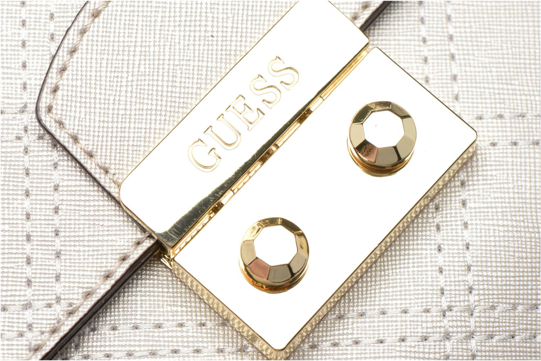 Handtassen Guess Pochette Envelope Clutch Aria Zilver links