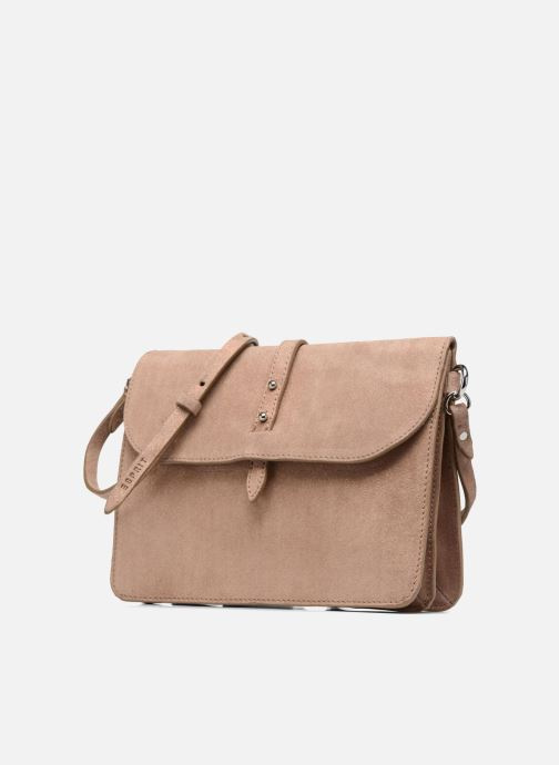 Handtassen Esprit Thelma FL Shoulder Leather bag Bruin model