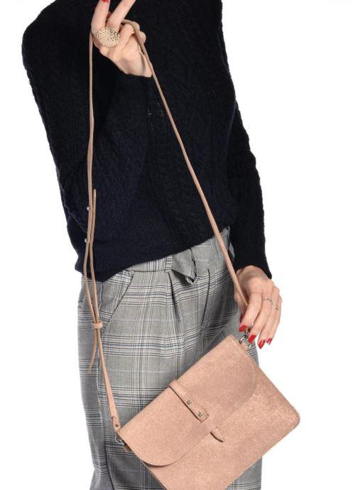 Sacs à main Esprit Thelma FL Shoulder Leather bag Marron vue bas / vue portée sac