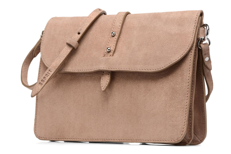 Borse Esprit Thelma FL Shoulder Leather bag Marrone modello indossato