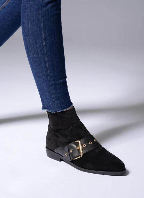 Stiefeletten & Boots Tommy Hilfiger Gigi Hadid Flat Boot schwarz ansicht von unten / tasche getragen