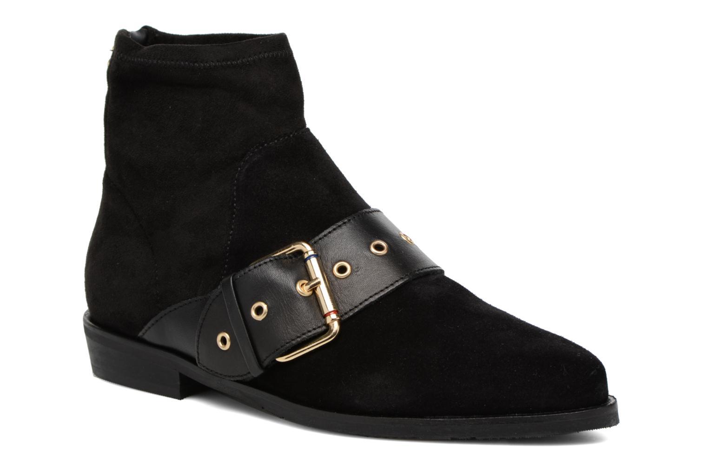 Bottines et boots Tommy Hilfiger Gigi Hadid Flat Boot Noir vue détail/paire