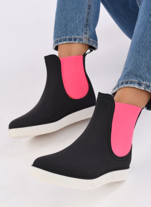Black Pop Omandy Fushia Et Boots Sarenza Mat Bottines vNn08mw