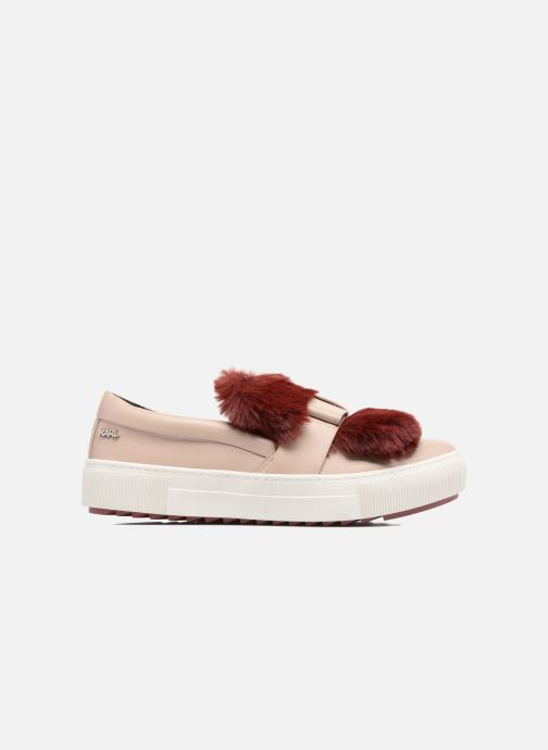 Trainers KARL LAGERFELD Luxor Kup PomBow Slip On Pink back view