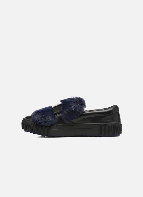 Baskets Karl Lagerfeld Luxor Kup PomBow Slip On Noir vue face