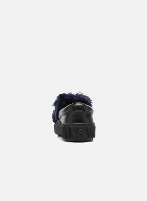 Deportivas Karl Lagerfeld Luxor Kup PomBow Slip On Negro vista lateral derecha